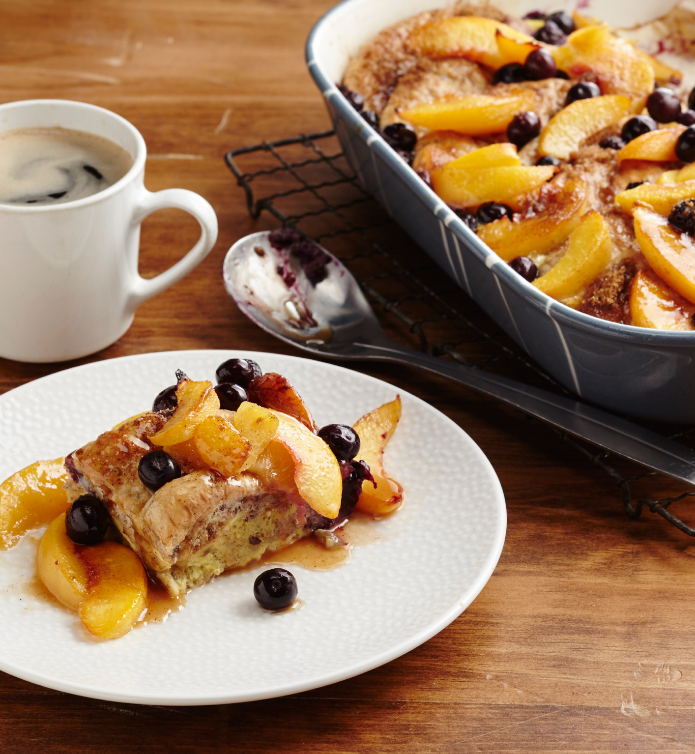 Peach and Blueberry Bake